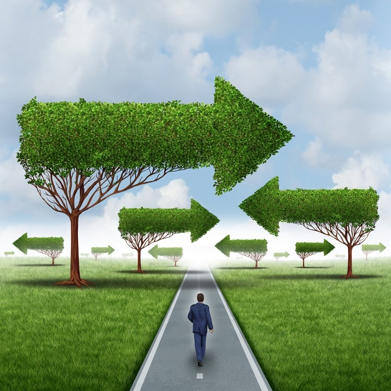 Taking different paths can lead to the same end goal