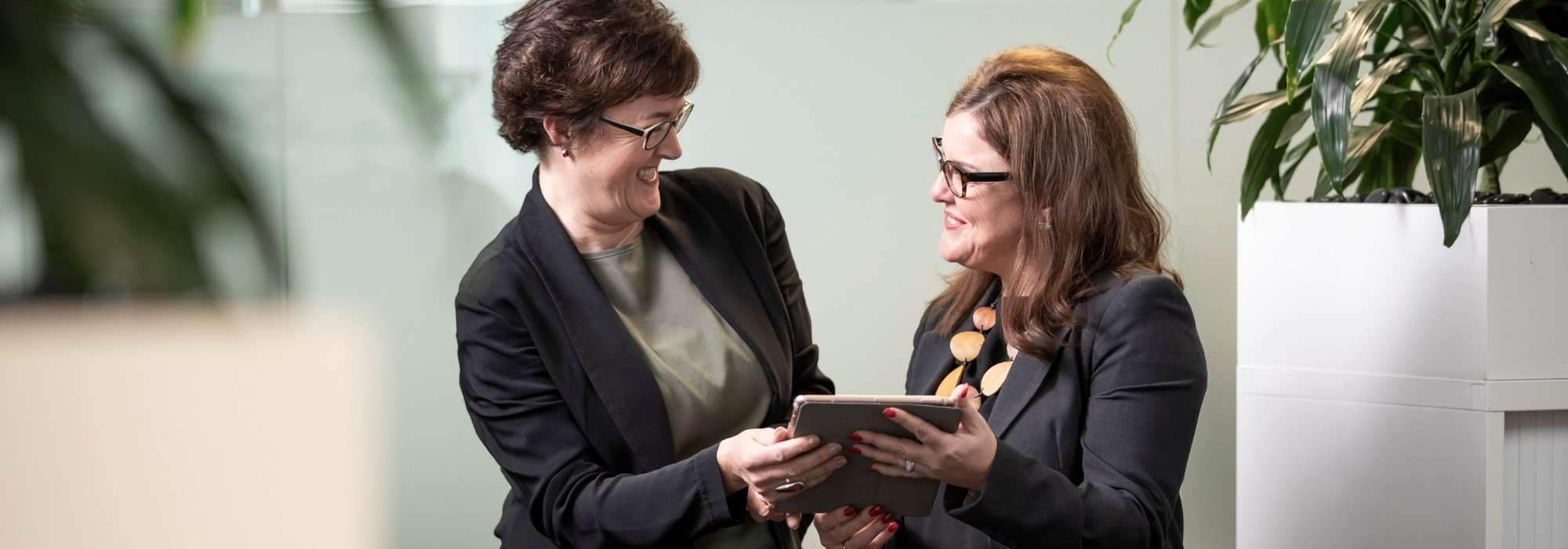 Recruitment Consultants looking at computer