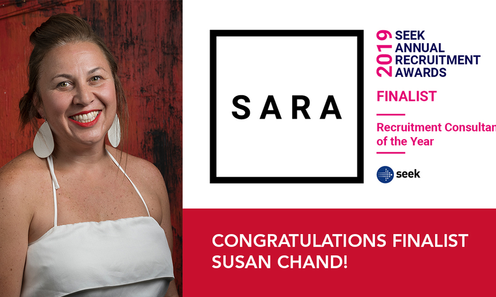 Susan Chand | SEEK SARA Finalist | Recruitment Consultant of the Year