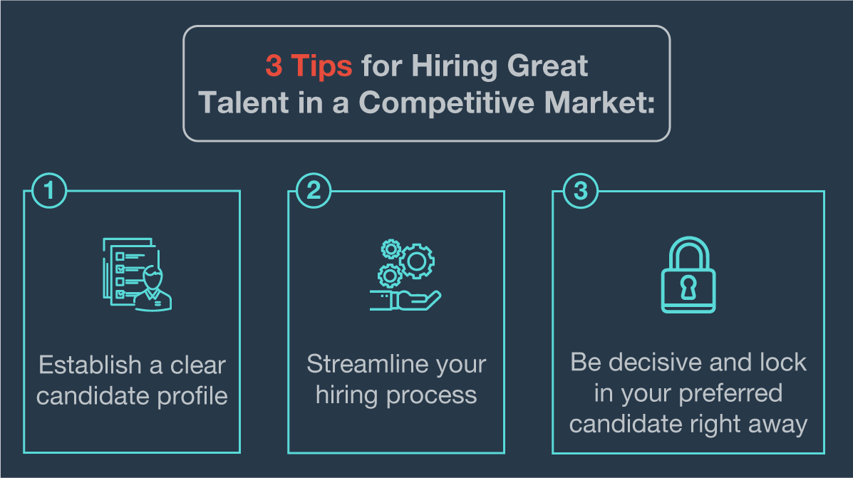 3 Tips for Hiring Great Talent in a Competitive Market
